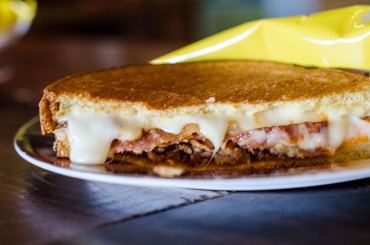 The Sarbez Melt: Mozzarella cheese, crisp bacon, turkey, and of course Sarbez sauce make up the original, and most popular, grilled cheese.