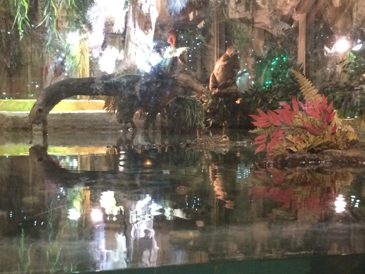 If you look close enough you can see their resident alligator, greeting all those coming in for a famous fish camp meal.